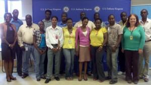 Ingrid in Jamaica - journalists